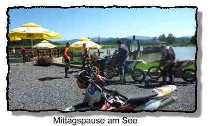 Endurotour Pause in Polen am See